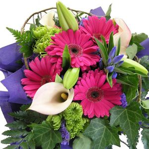 PRETTY PINK & PURPLE FLOWER BOUQUET