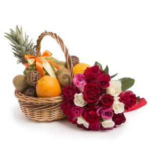Fruit Basket and Roses