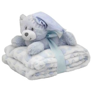 Blue Snuggles Blanket and Bear