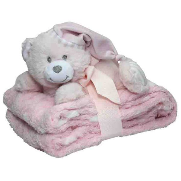 Pink Snuggles Blanket and Bear